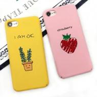 小清新草莓盆栽苹果6/6p/7/7p手机壳