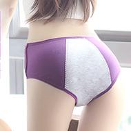 女士纯棉生理三角内裤