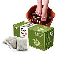 驱寒排湿艾叶泡脚足浴粉包24包盒装