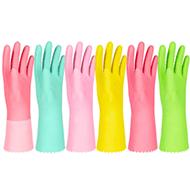 双一防水耐用加绒洗碗手套