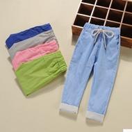 男童夏季薄款棉麻灯笼裤