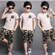 男童迷彩T恤+裤子两件套装