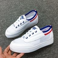 低帮系带帆布鞋小白鞋