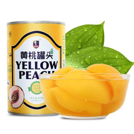 新鲜砀山黄桃罐头425g*6罐