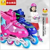 史努比溜冰鞋儿童全套装