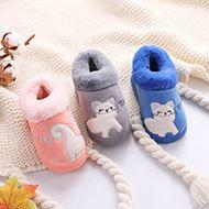冬天新款儿童保暖棉拖鞋