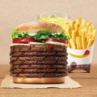 这么厚的巨无霸汉堡之王怎么吃