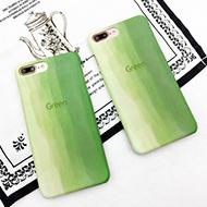 小清新抹茶绿色渐变苹果手机壳