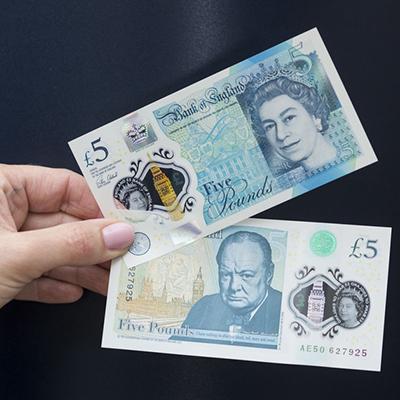 新防伪技术:英国首次推出5英镑塑料钞票