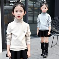 儿童套头秋冬季圆领针织衫