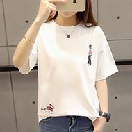 女式韩版宽松短袖T恤