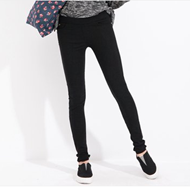 FIRSTMIX 秋季新款弹力梭织布铅笔裤