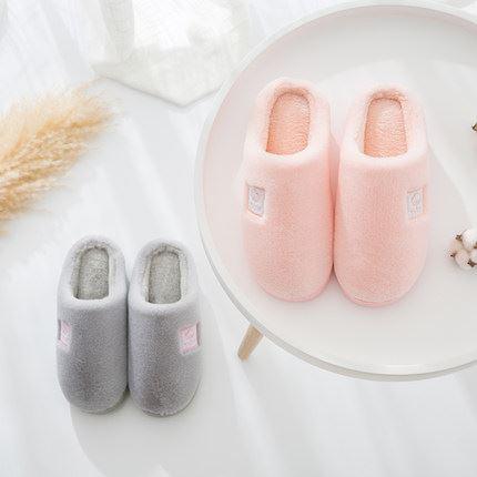 冬季男女情侣包跟厚底棉拖鞋