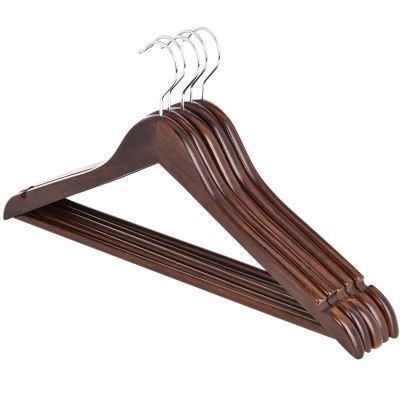 复古实木衣架5个装
