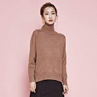 莲丽人加厚高领BF羊毛衫