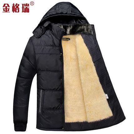 中年爸爸加绒加厚冬季棉服冬装