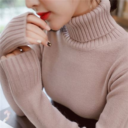 雪花玲高领加厚针织毛衣