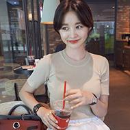 韩版修身冰丝针织衫