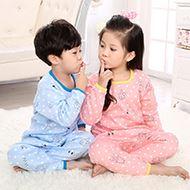 加绒加厚儿童保暖内衣套装
