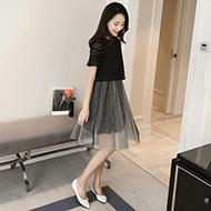 韩版短袖套装裙