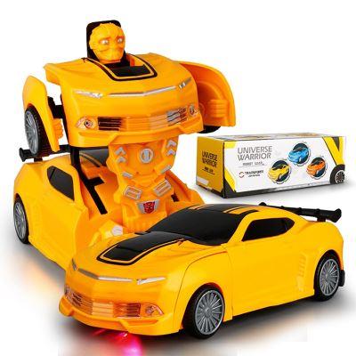 自动变形大黄蜂电动汽车机器人