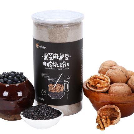 黑芝麻黑豆核桃五谷代餐粉500g