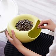 创意现代客厅简约塑料零食瓜子盘