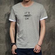 夏季男士新品圆领撞色T恤