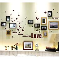 简约现代客厅网格照片墙