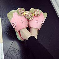 纳帕菲可爱熊掌棉拖鞋