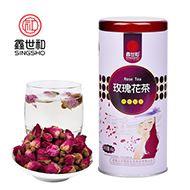 鑫世和罐装玫瑰花茶花草茶80g