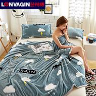 两条装夏季珊瑚绒空调毯