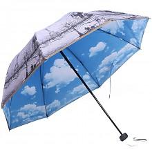 天堂伞 双层面料三折晴雨伞 UPF50
