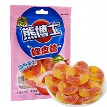 徐福记 熊博士 橡皮糖 水蜜桃圈 60g