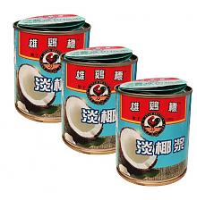 雄鸡标(AYAM BRAND) 淡椰浆 270ml*3罐 马来西亚进口