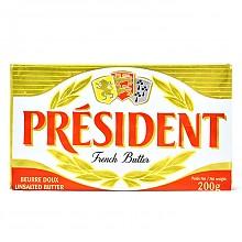 PRESIDENT 总统 发酵型动物淡味黄油块 200g
