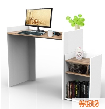 欧式木纹书桌柜子