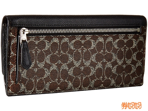coach gray wallet  coach signature soft