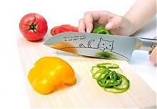 东亚金属 三徳包丁 770-305 猫咪图案 17cm 轻便多功能菜刀