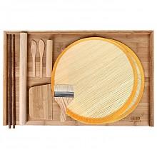 佳驰 楠竹擀面板 饺子板春节全家福套装
