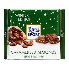 Ritter SPORT瑞特斯波德 焦糖扁桃仁味 牛奶巧克力100g*2