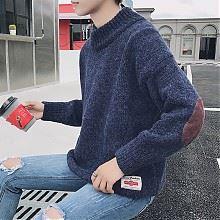 韩版男士半高领打底针织衫