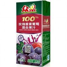 众果玫瑰香紫葡萄混合果汁1L×6盒箱装