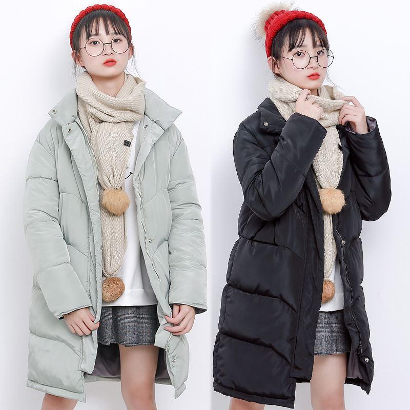 冬季棉服女中长款加厚
