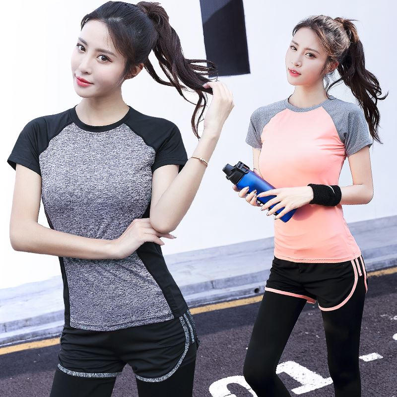 瑜伽跑步运动套装女
