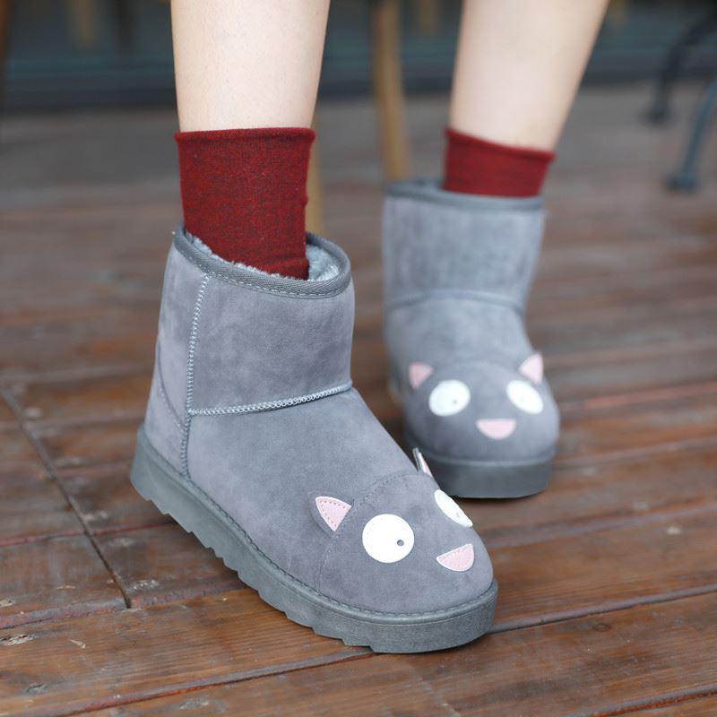 哈萌加绒保暖百搭时尚雪地靴