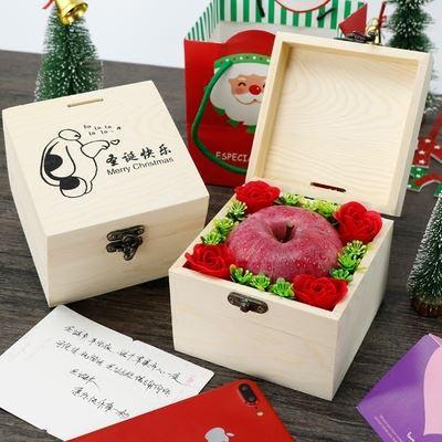 圣诞平安果木质礼盒