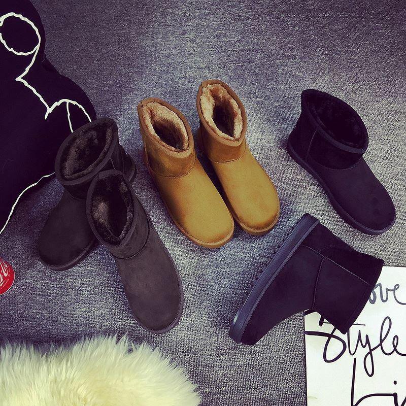申马冬季新款短筒雪地靴