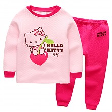 Hello Kitty 凯蒂猫 女童加棉内衣套装*2套