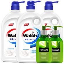 威露士 滋养美肤沐浴露 1L*3件 十八本草洗手液150ml*2件